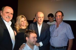 1 (4)-Caramez, a militante tucana Mari Laine de Valinhos, o prefeito de Gália, Newton Freire, e o vereador de Valinhos, Popó