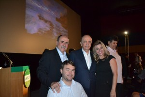 41-Caramez e Serra com o vereador de Valinhos, Popó, e a militante tucana Mari Laine
